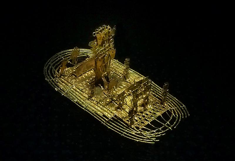 Balsa Muisca // Museo del Oro // La balsa de la ofrenda // Leyenda del Dorado