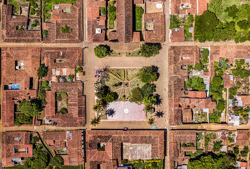Plaza principal Guane // Vista aérea