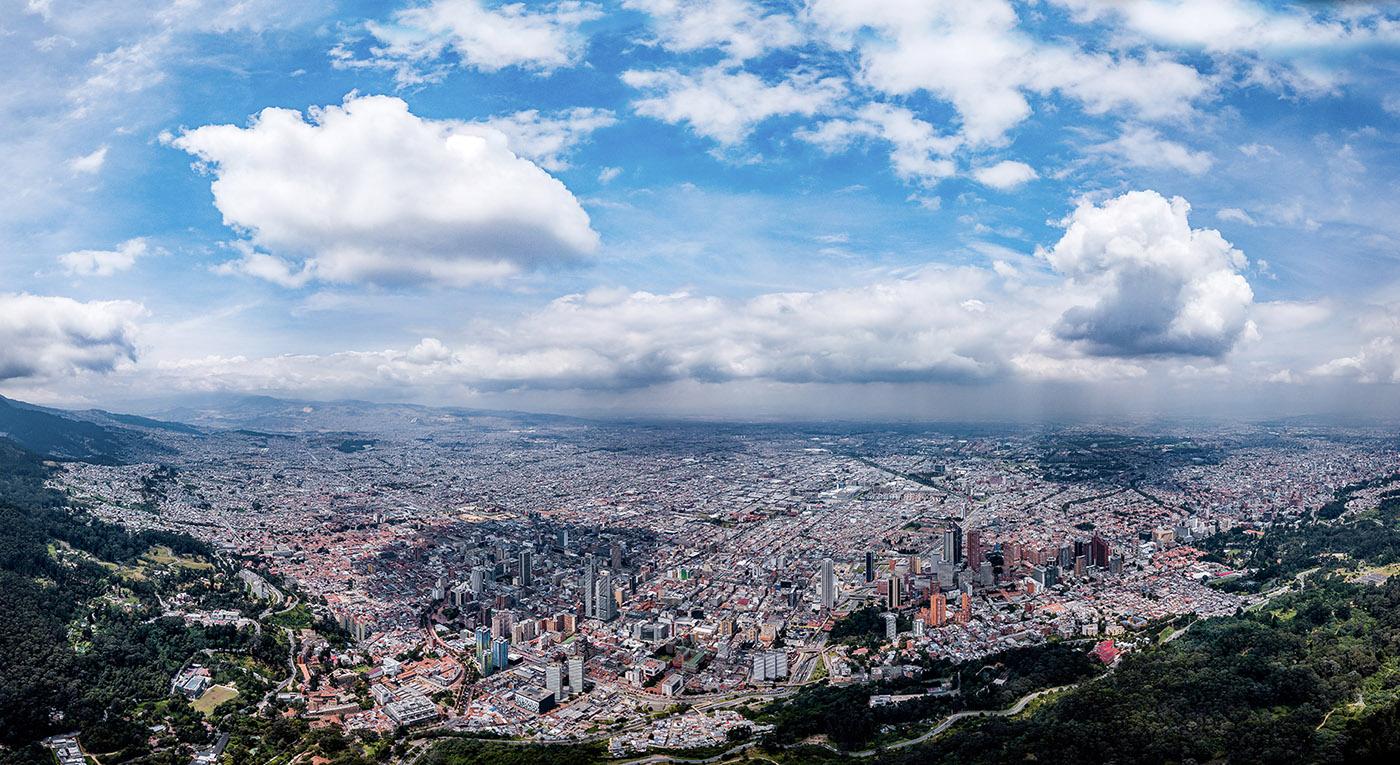 Vista aérea de Bogotá