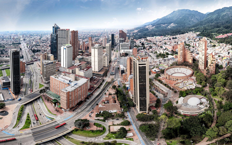 Fotografía panorámica de Bogota 2019